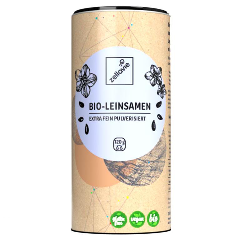 Zellavie® Bio-Leinsamen Pulver